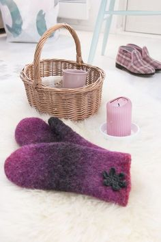 Nordic Yarns and Design since 1928 Joki, Mittens, Shag Rug, Straw Bag, Knitting Patterns, Diy And Crafts, Knit Crochet, Weaving, Slippers