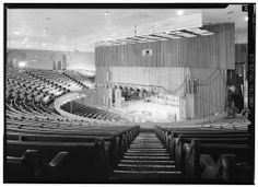 The Grand Ole Opry House (Ryman Auditorium) in the 1940s. The auditorium first opened as the Union Gospel Tabernacle in 1892. It was built by Thomas Ryman. Ryman conceived of the auditorium as a tabernacle for the influential revivalist Samuel Porter Jones. After Ryman's death, the Tabernacle was renamed Ryman Auditorium in his honor. It was used for Grand Ole Opry broadcasts from 1943 until 1974, when the Opry built a larger venue just outside Nashville at the Opryland USA theme park.