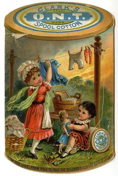 Vintage ad for Clark's spool cotton