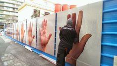 Nice : l'art quitte les musées pour les palissades de chantier. | Le Ficanas ®