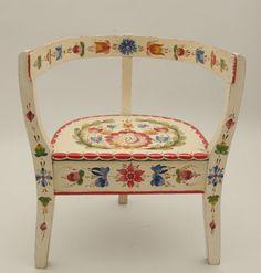 Folk Art chair, Norwegian Folk Art, Os, Rosemaling, Stol.