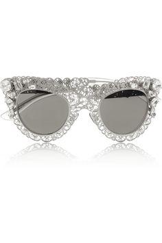 Dolce  Gabbana Lunettes de soleil œil-de-chat en filigrane argenté NET-A-PORTER.COM