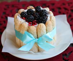 The Cilantropist: Homemade Ladyfingers, and a Pomegranate Charlotte Kinds Of Desserts, Gourmet Desserts, Cookie Desserts, Just Desserts, Delicious Desserts, Dessert Recipes, Yummy Food, Dessert Ideas, Cake Ideas