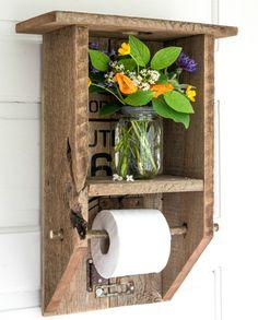 Стильный держатель для туалетной бумаги.