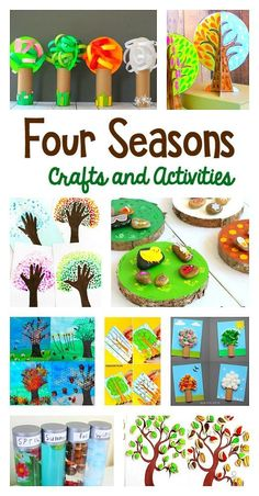 15 Super Cute Four Seasons Crafts and Activities for Kids: Spring, Summer, Winter, and Fall Art Projects and Sensory Activities for toddlers, preschool, kindergarten, and elementary!