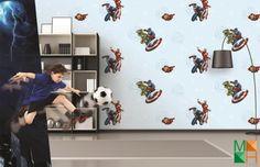 Giấy dán tường siêu nhân cho bé trai đẹp tại Kon Tum D5074-1