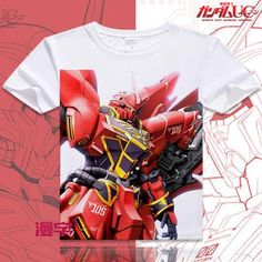 Gundam Short Sleeve Anime T-Shirt - OtakuForest.com