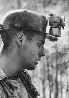 My family were coal miners and proud! My Pawpaw Rutherford started in the mines when just a boy. I have his carbide lantern, numbers and whistle proudly displayed. by LIFE Appalachia, eastern Kentucky, 1964