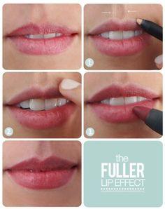 Fuller Lip Effect Makeup Tutorial #makeup #lipstick #lips