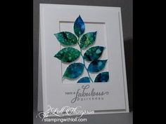 Alcohol Inks with Yupo Paper - YouTube. Alcohol ink smooshing. Love her card samples!