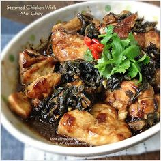 Steamed Mui Choy with Pork Belly (梅菜扣肉) is one of the traditional Hakka dishes but here instead of using Pork Belly I have replaced pork ...