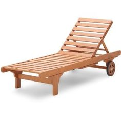 The Strathwood Basics Hardwood Chaise Lounge is a handsome, well-made chaise tailor-made for soaking up the sun or relaxing by the pool. Made of all-weather eucalyptus wood, a  hardwood that is dense and durable.
