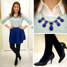 #OOTD: Royal Blue and Mint - http://saradujour.me/post/65266005926/ootd-royal-blue-and-mint #fashion #style #ootd
