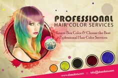Leave Box Color & Choose the Best Professional Hair Color Services