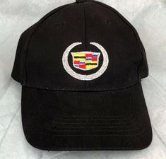 0c2533eb79e9cc Cadillac Logo Black Embroidered Adjustable Baseball Cap Hat New | Clothing,  Shoes & Accessories