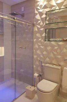 Efeito 3D no banheiro