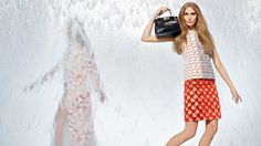 Nadja Bender + Joan Smalls Star in Fendi Spring 2014 Ads