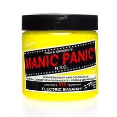 Manic Panic Classic Semi-Permanent UV Glow Hair Dye 118ml (Electric Banana)