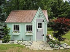 Build ANY Shed In A Weekend - 10 Whimsical Garden Shed Designs - Storage Shed Plans - Country Living Our plans include complete step-by-step details. If you are a first time builder trying to figure out how to build a shed, you are in the right place! Chicken Coop Garden, Cute Chicken Coops, Building A Chicken Coop, Building A Shed, Building Plans, Chicken Cottage, Chicken Shed, Chicken Houses, Building Ideas