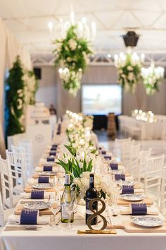 Photo collection by Christine Meintjes Wedding Decorations, Table Decorations, Real Weddings, Catering, Wedding Planner, Table Settings, Blue And White, South Africa, Floral