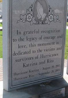 Katrina Memorial in the Lower Ninth Ward