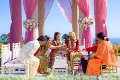 indian-wedding-ceremony-mandap-pink-red-orange-traditional-decor-ideas