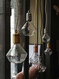 Frama E27 Pendant, with Diamond Light bulb, by Frama. [http://www.framacph.com/frama-collection/frama-e27]