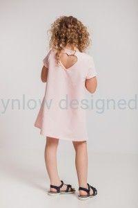 Trapezowa sukienka z kieszeniami różowa