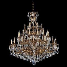 Schonbek Sophia 35 Light Crystal Chandelier Finish: Antique Silver, Crystal Color: Swarovski Spectra