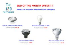 Save 25% on these Philips LED lamps, visit our website to place your order before they fly off the shelves!! http://theledspecialist.co.uk/