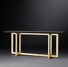 Today, Design Limited Edition reveals the Top Architects and Designers - 2017 - according to Architectural… Coffee Table Desk, Dining Table, Metal Furniture, Furniture Design, Live Edge Console Table, Architecture Panel, Architecture Portfolio, Metal Table Legs, Architectural Section