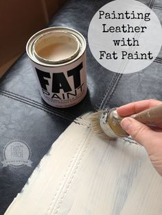 Painting Leather with Fat Paint My cats have ripped up our leather furniture with their claws. Maybe I'll try this!