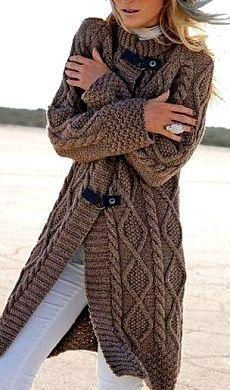 Knitted Coat Pattern, Crochet Coat, Crochet Jacket, Knitted Poncho, Knit Jacket, Knitwear Fashion, Sweater Fashion, Only Cardigan, Sweater Coats
