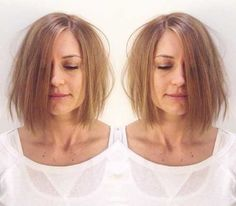 Textured Short Bob Hairstyle For Fine Hair