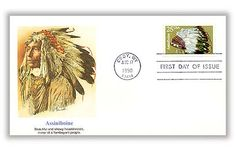 1990 25c Assiniboine Headdress for sale at Mystic Stamp Company