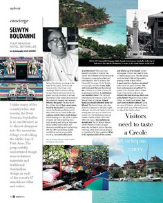 Originally published in Business Day's Wanted Magazine (March View the pdf here: Concierge Selwyn Boudanne. Four Seasons Hotel, Five Star, Concierge, Writing, Travel, Image, Trips, Viajes, Traveling