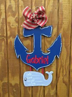 Anchor Door Hanger For Babyu0027s Nusery Or By Craftigirlcreations