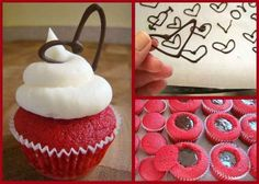 valentines cupcakes chocolate ganache   filled red velvet - Valentine Cupcake decoration ideas and   recipes