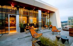 Departure Restaurant and Lounge in Portland. Rooftop of the Nines Hotel. Nice place for drinks on date night.