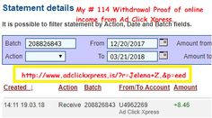 My # 114 Withdrawal Proof of online income from Ad Click Xpress.Ad Click Xpress is the top choice for passive income seekers.Cryptocurrency Trading Profits (CTP) will be the future of ACX for life...PLUS: Cryptocurrency Trading Profits (CTP) of up to 2% daily!!Because ACX Crypto is the best online opportunity!The withdrawal of money is every day!!!