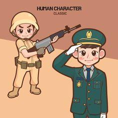 human character -iclickart   :) 최근 화제의 인기 드라마, #태양의후예 가 생각나는 군인 캐릭터 입니다.