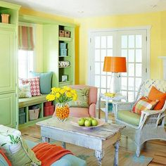 """Bright and shining, a living room that screams """"LIFE… LIFE!"""" <<<<"""