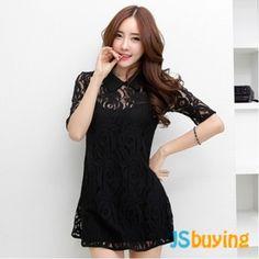 two-piece dress black color