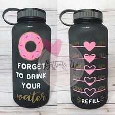 Your place to buy and sell all things handmade Water Bottle Crafts, Cute Water Bottles, Water Bottle Design, Water Bottle Tracker, Gym Bottle, Diy Tumblers, Custom Tumblers, Custom Cups, Cup Design
