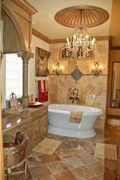 Want to add some luxury to your bathroom? A beautiful ceiling dome is the perfect addition. http://www.ArchitecturalBling.com/