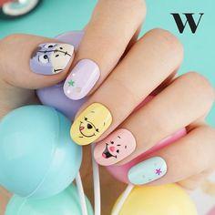 Nails and nail art: beautiful nail ideas and impressive nails model . - Nails and nail art: beautiful nail ideas and impressive nails elegant nail models - Bling Nail Art, Nail Art Diy, Fall Nail Art, Disney Acrylic Nails, Cute Acrylic Nails, Disney Nails Art, Minimalist Nails, Nail Art Vernis, Disney Nail Designs
