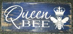 Queen Bee..... Wall Plaque Hangingwood// by hilltopprims on Etsy