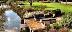 Steigerhouten loungeset Montecastelli in de eerste zonnestralen van het jaar