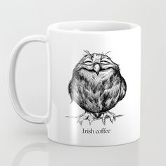 Buy Owl Ball Mug by Dave Mottram. Worldwide shipping available at Society6.com. Just one of millions of high quality products available.
