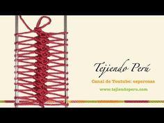 Horquilla o hairpin lace: cómo tejen en la técnica básica - YouTube